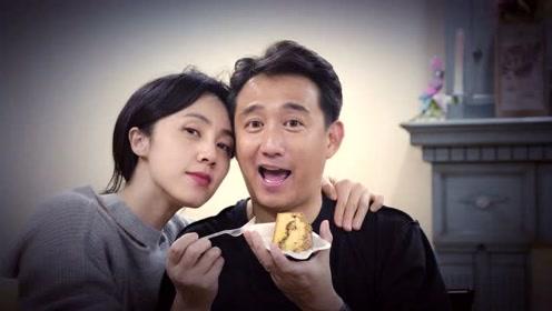 孙莉为黄磊庆48岁生日,夫妻头挨头大秀恩爱,多多画一家五口送爸爸