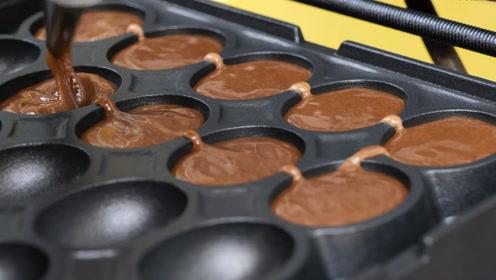 韩国咖啡豆蛋糕:当诱人的巧克力液淌下来时,我的口水流了一地!