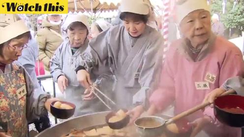 过冬就要吃萝卜!日本寺庙烧大锅关东煮 700年历史民众排长队品尝