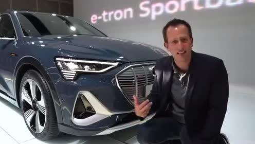 细节欣赏,全新奥迪e-tron Sportback测试