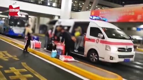 救护车闪着警示灯接机?上海机场:员工违规使用,将严肃处理
