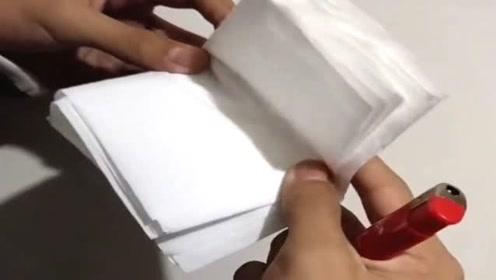 纸到底能不能包住火,这次做个实验,来验证一下!