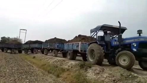 把拖拉机当成火车来开,印度农民的日常开挂操作