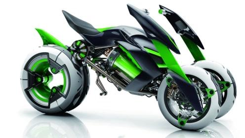 日本科技产品有多厉害?川崎发布的新款摩托,自带变形功能