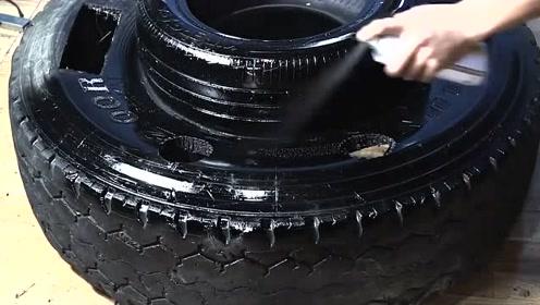 小伙把废旧轮胎利用的真到位,不愧是高手,不服不行