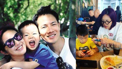 杨千嬅7岁儿子罕见曝光,清秀可爱越发像老爸