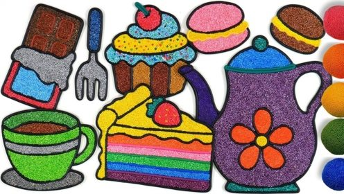 创意手工制作:做美味奶油蛋糕 咖啡壶