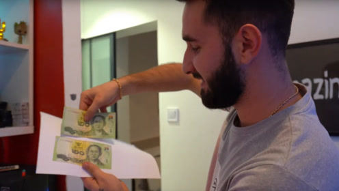 小哥将纸币放在打印机上复印,纸张上会出现什么?网友:也不敢太逼真