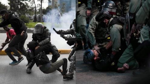 """香港70名教师被捕!纵火堵路袭警 学生面前""""黄师们""""丢尽脸面"""