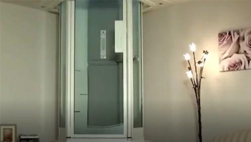国外发明家用小电梯,停电也能够使用,上下楼梯不再麻烦