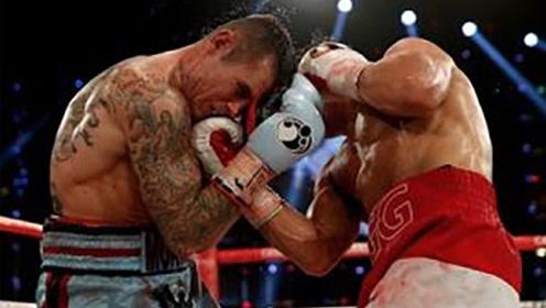 连续六个疯狂上勾拳爆头,当场KO对手!
