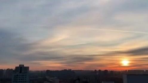今晨北京的朝霞美翻天 让我们一起领略朝霞的美