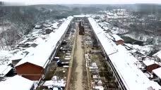 鸟瞰乡村-安徽省滁州市南谯区大柳镇雪景航拍