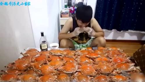 这100只螃蟹,大胃王你吃完就可以横着走了