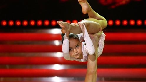 10岁小女孩跳双人舞 刚开始被评委叫停结果惊艳全场
