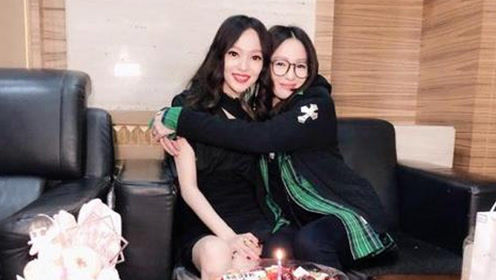 张韶涵妹妹晒照为姐姐庆生 姐妹俩高颜值撞脸