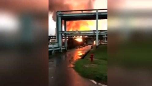 台湾炼油厂爆炸火光冲天 方圆5公里住户都被震醒