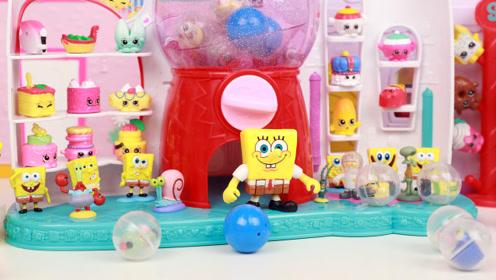 海绵宝宝小可爱扭蛋拆蛋 squinkies玩具分享