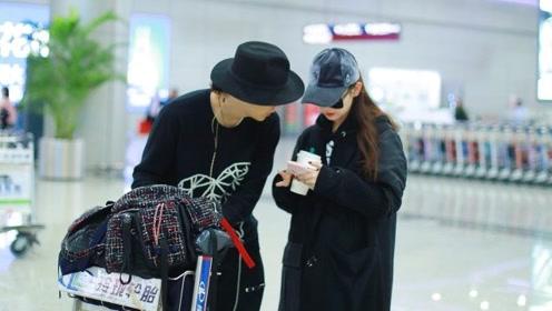 戚薇与李承铉启程回娘家 两人低头私语画面超甜