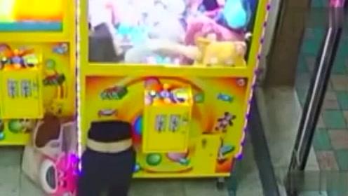 女子展现缩骨神功 钻进娃娃机偷走8只娃娃