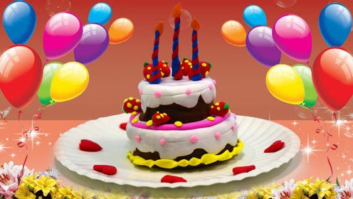 创意手工彩泥diy美味蛋糕,祝国庆节快乐!