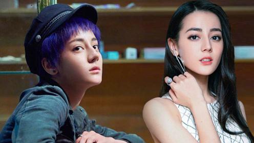 热巴新电影发布造型 挑战紫色短发化身假小子