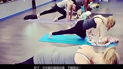 运动新潮流 漂亮妈妈带婴儿同跳芭蕾超可爱