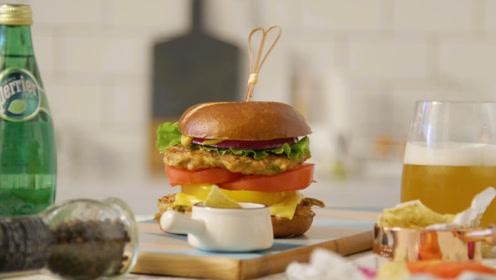 INS风能量汉堡做法-网红菜厨房EP1