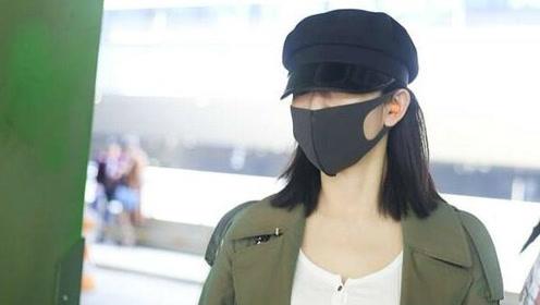 谢娜口罩掩面显神秘 穿紧身打底衫产后身材恢复神速