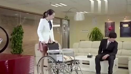 女老总假装瘫痪,穷男友的回答,让人感动