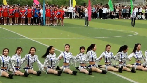 运动会全班女生操场热舞 集体劈叉惊呆全场!