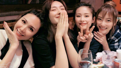 """""""妻子团""""齐聚上海,谢娜深夜请吃火锅,镜头前的4人微笑超甜"""