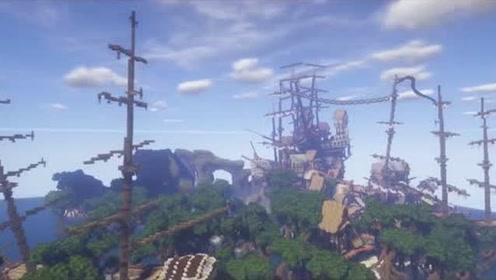 我的世界风景纪实 大帆船和农场城堡