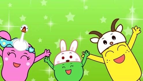 咕力儿歌:小白兔请客 小猪小猪洗干净朋友们都欢迎