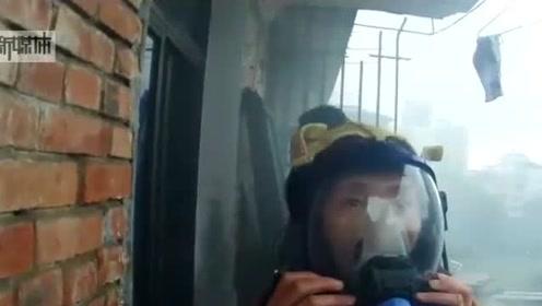 楼房着火,民警救人后被困楼顶,电话中与妻子诀别