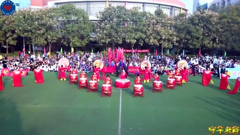 郑州市宇华实验小学第二届田径运动会开幕式航拍版