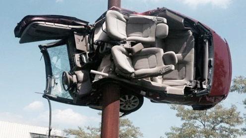 女司机弯道加速超车,侥幸逃过一劫,下次你还敢吗?