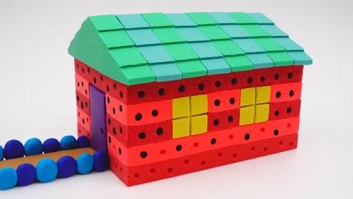 宝宝巴士魔力太空沙—西瓜屋,少儿益智手工创意启蒙,一看就能学会