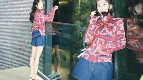 杨幂晒美照,有谁注意她面前的玻璃倒影 真实身材令人惊讶