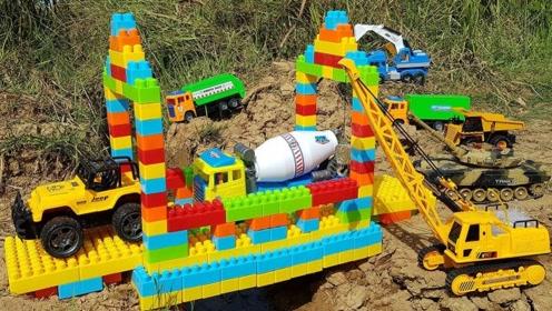 儿童趣味学习认识工程车,和我一起说出他们的名字吧