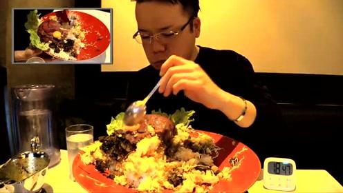 日本大胃王半小时不到吃掉5公斤食物,隔着屏都感觉肚子好饱