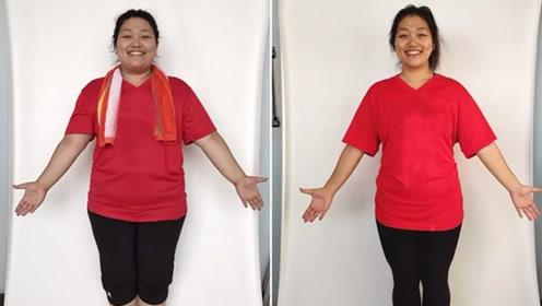 怒减66斤,胖了22年的她,瘦下来是如此好看