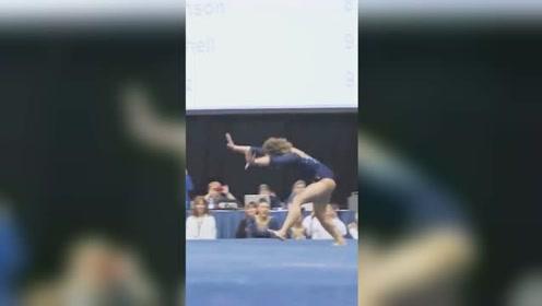 体操运动员高难度表演引欢呼