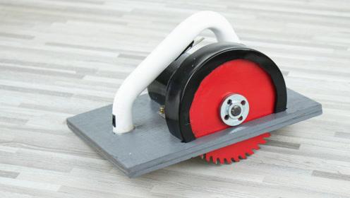 用895马达自制强力电圆锯 手工DIY木工电动切割机工具