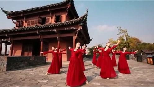 无处不起舞 古典舞《雪落下的声音》 一袭红衣霂倾城