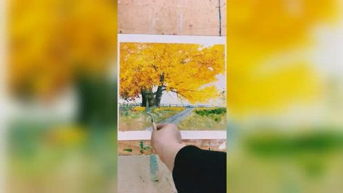我的油画小风景教程视频欢迎光临谢谢