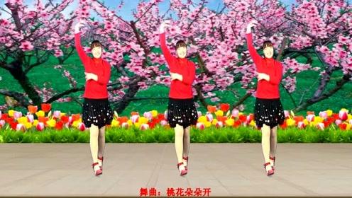 广场舞《桃花朵朵开》简单易学