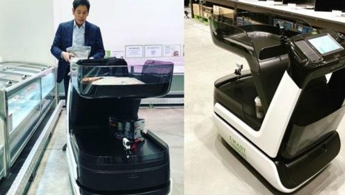 不用排队的购物车,Caper推出的智能购物车,可以识别购物车的物品