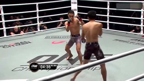 ONE冠军赛 彭学文对战卡莱,卡莱低踢对抗彭学文的逼近