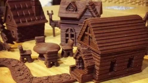 BBC日本介绍黑科技,3D食品打印机,机器打印出标准模样的点心!